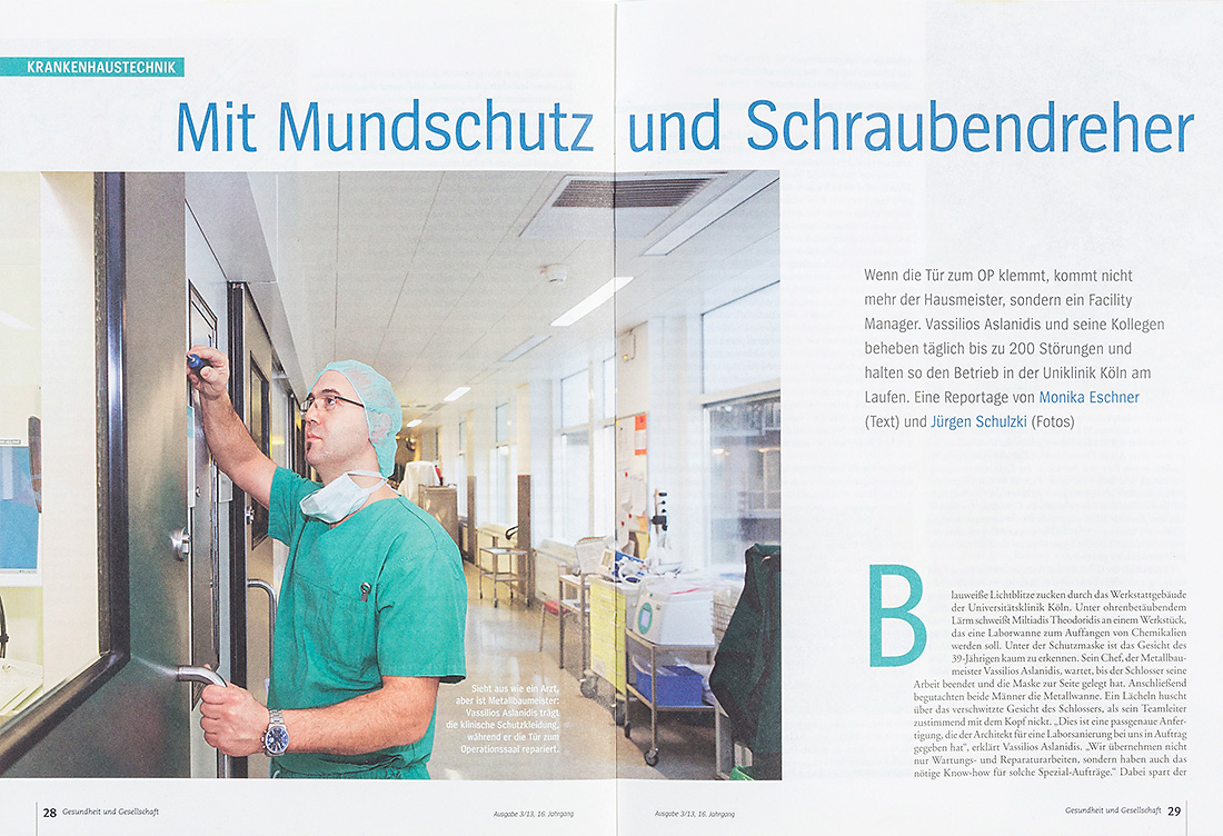 Businessfotografie, Handwerk, Krankenhaus-Fotografie